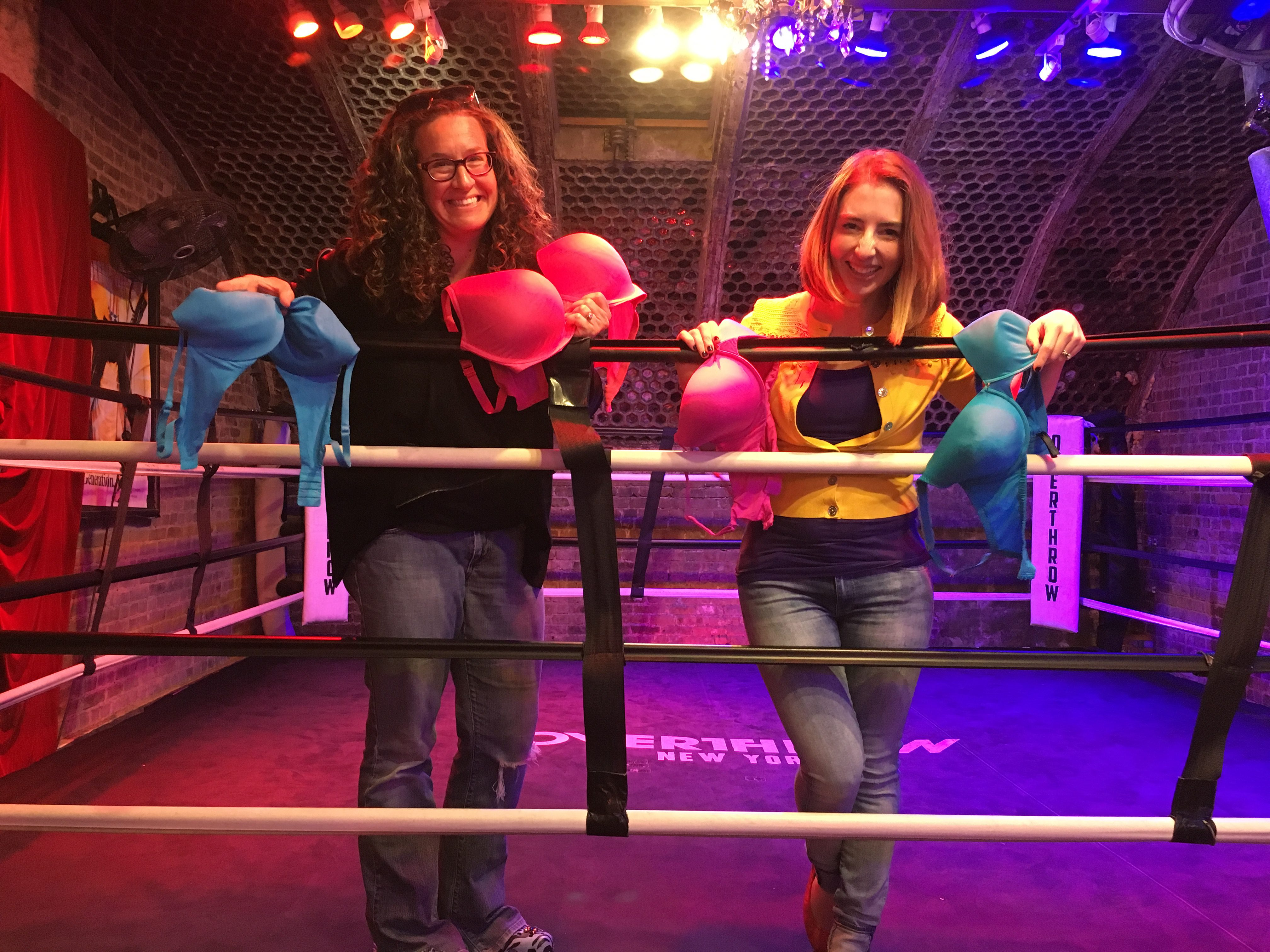 Dana Marlowe and Rachael Heger at NYC Boxing Ring