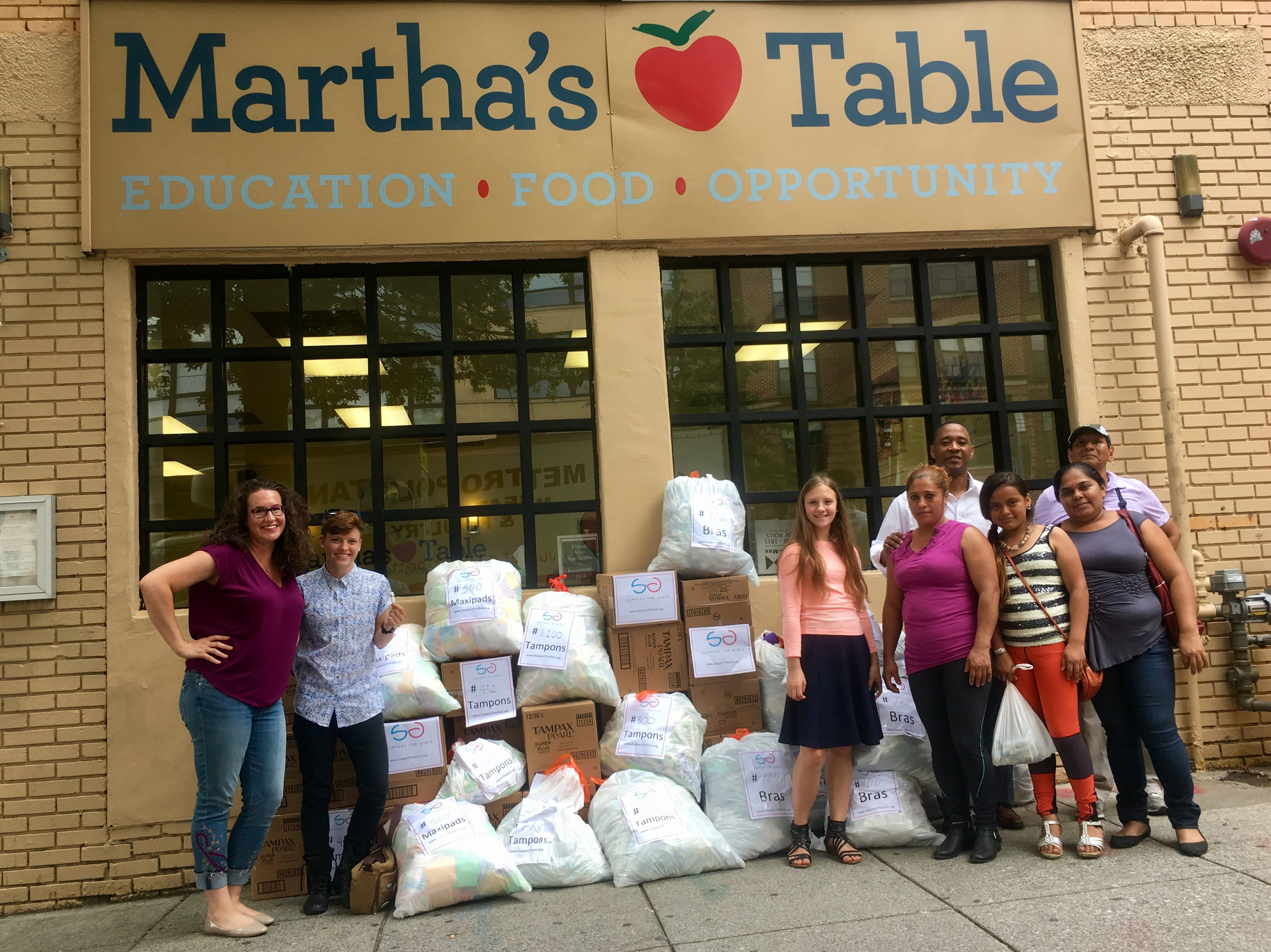 Donations given to Martha's Table in Washington, DC