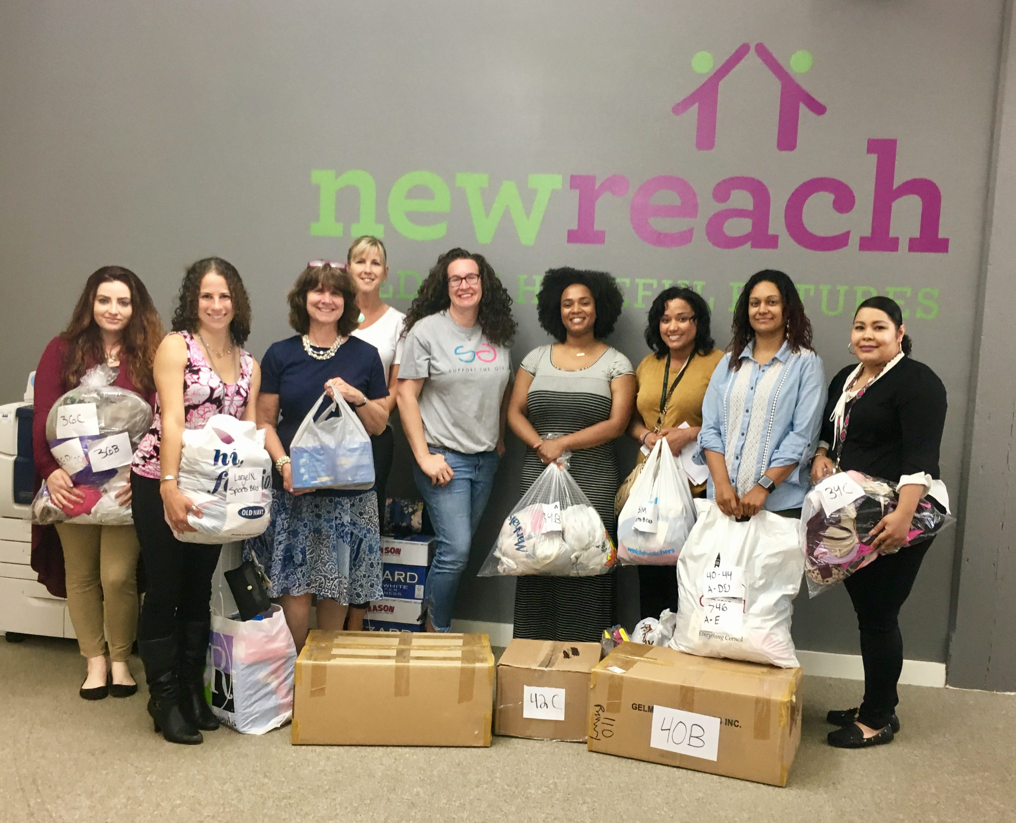 Product drop off at New Reach in New Haven, CT