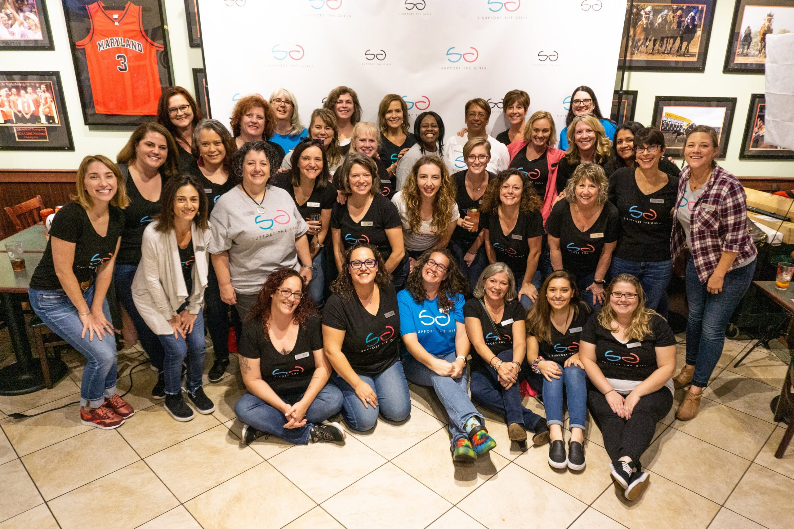 Group photo of I Support the Girls staff and Affiliates.