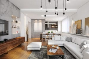 Modern hipster apartment interior home insurance